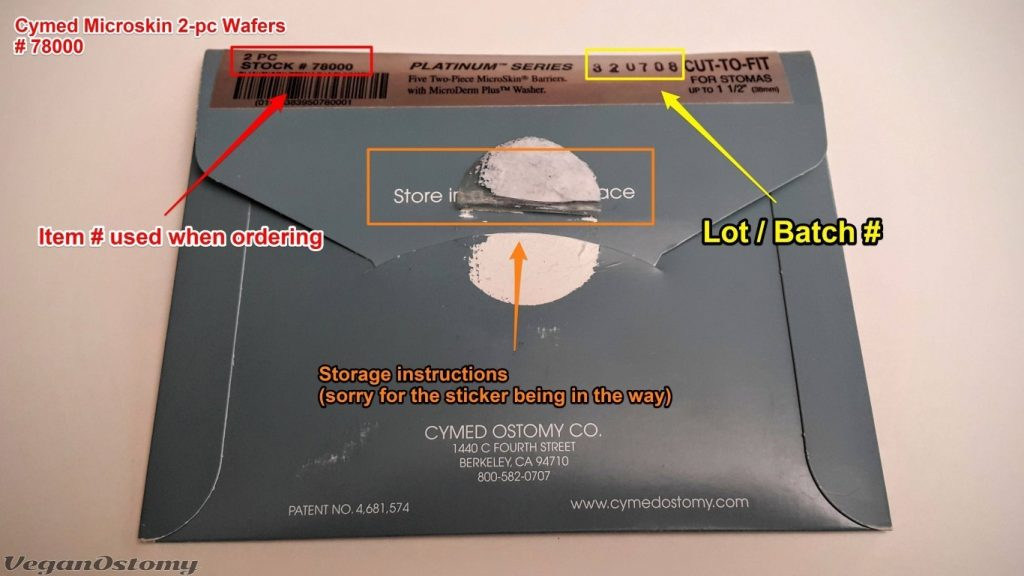 Cymed Miroskin wafer package info