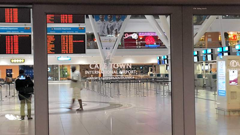 Cape Town International Airport midnight