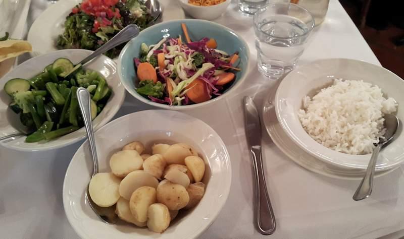 Jonkershuis Eatery vegan lunch Cape Town