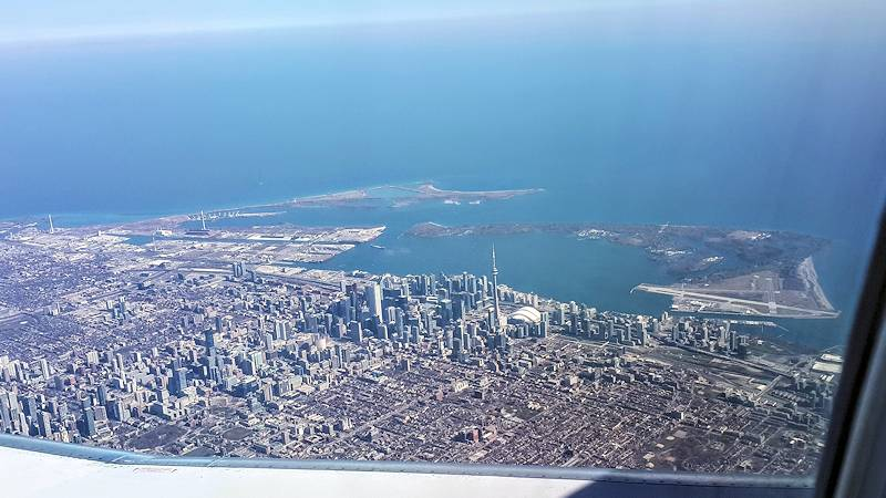 View of Toronto, Ontario from a plane