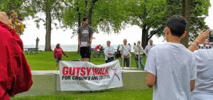 Gutsy Walk 2016 Durham Region Honorary chair Parker