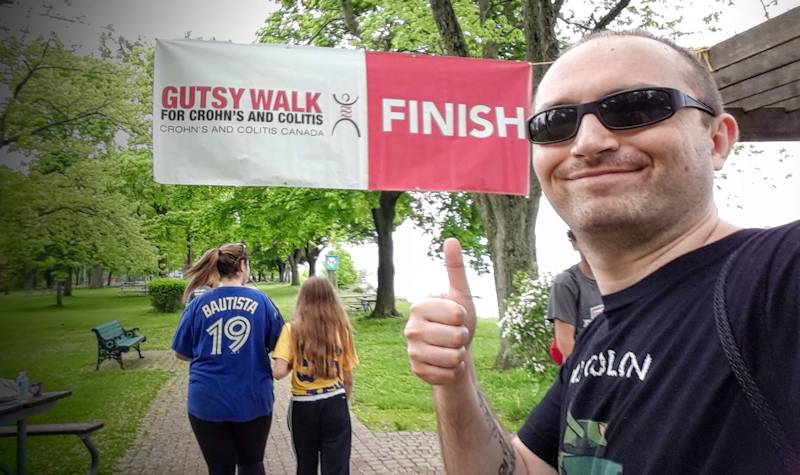 Gutsy Walk 2016 Durham finish line