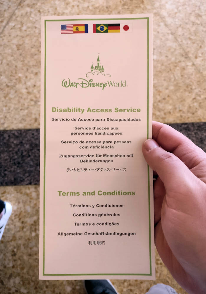 Disney Disability Access Service TOC