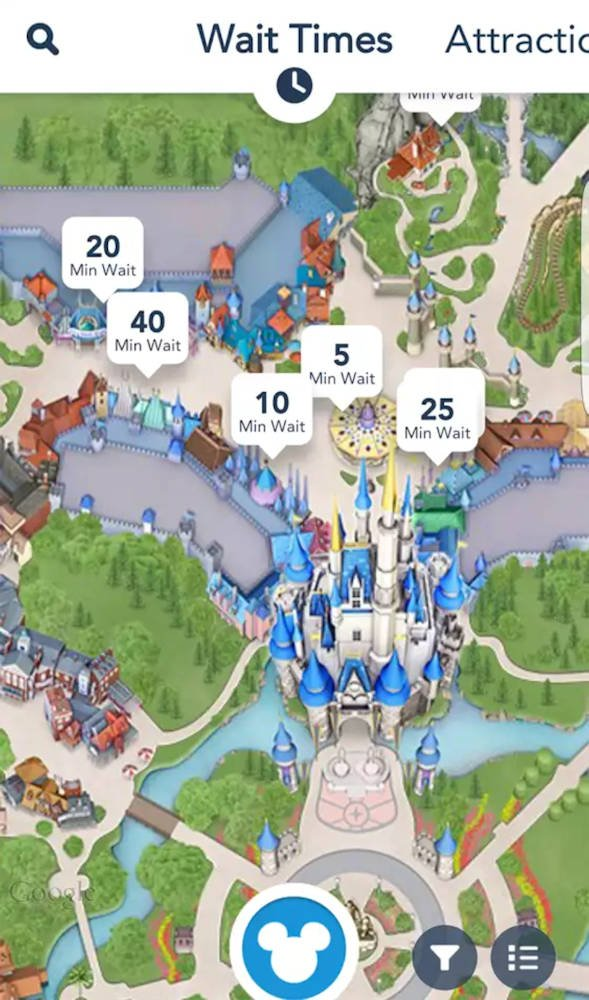 Disney app ride times