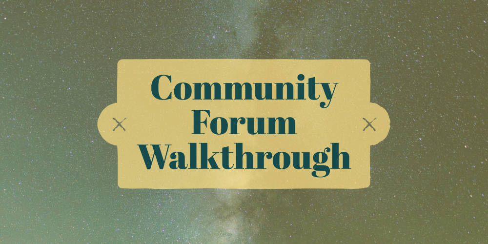 Forum walkthrough header small