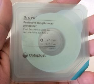 Holding Coloplast Brava Protective Ring small