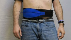 Hybrid stealth belt front
