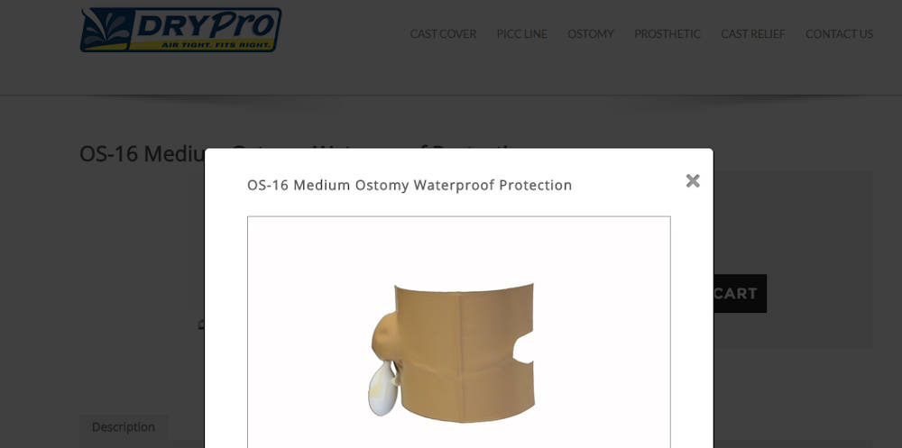 drypro ostomy shower cover
