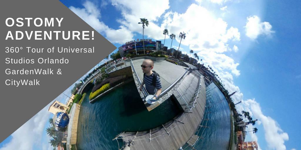 Ostomy adventure Universal Orlando Citywalk tour header small