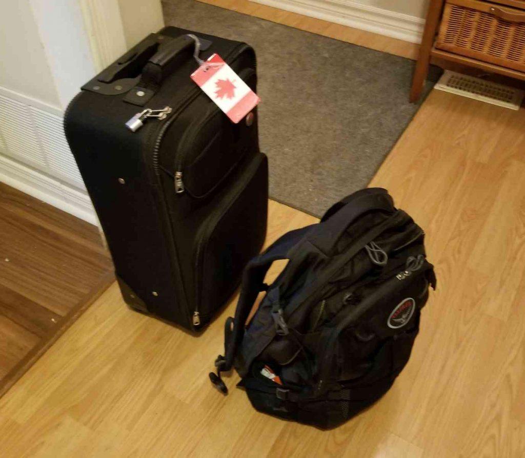 Luggage for regina VeganOstomy