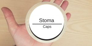 Stoma caps header