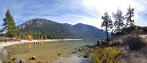 Panorama of Sand Harbor