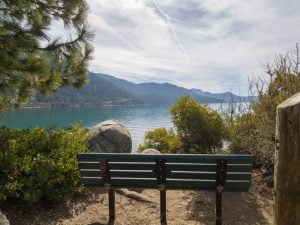 Bench near Sand Harbor