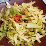 Cooked shredded cabbage