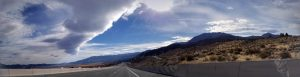Cool clouds panorama near Reno