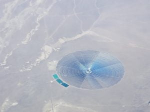 Crescent Dunes Solar Energy Project over Nevada