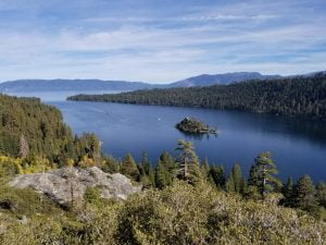 Overlooking Emerald Bay