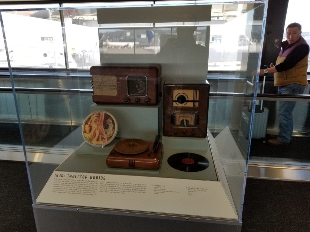 Radio display at San Francisco airport 5