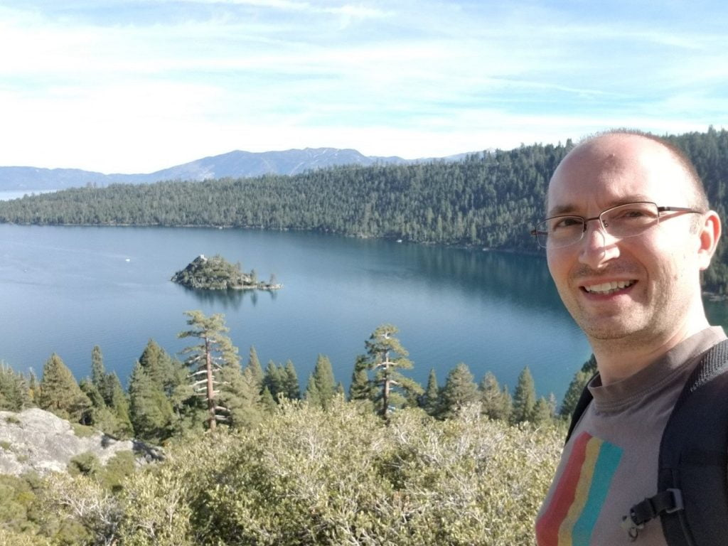 Selfie at Emerald Bay