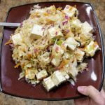 Shredded cabbage and tofu dish