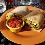 Tofu scramble breakfast burrito